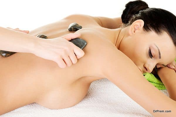 Learn how to take hot stone massage at home