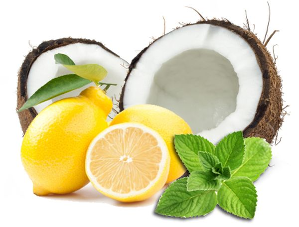 Coconut milk and lemon juice