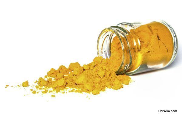 Turmeric spice powder