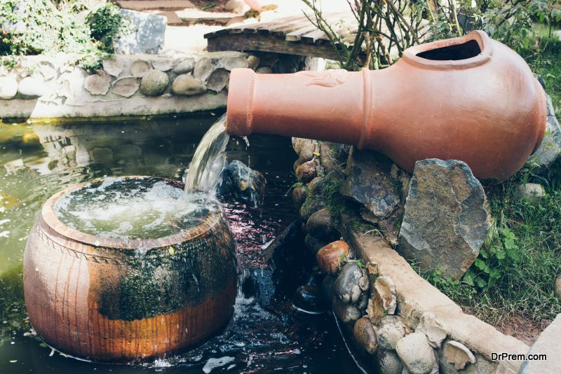 Outdoor Fountain Cleaning