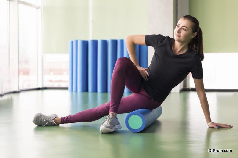 Foam rolling can help ease soreness